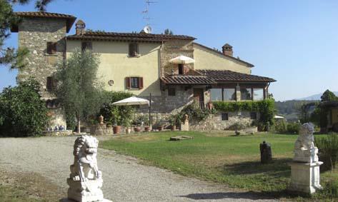Franziskusweg, Südtoskana / Arezzo: Zimmer und Ferienhäuser in einer wunderschön gelegenen Villa mit