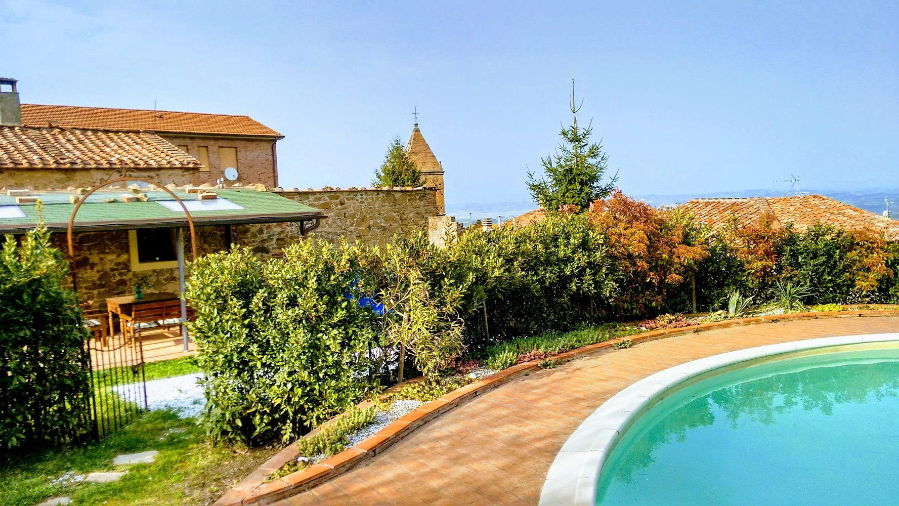 Toskana - Pisa, exklusives Ferienhaus mit Pool, yoga, internet, solarheizung, kamin, umweltfreundlich
