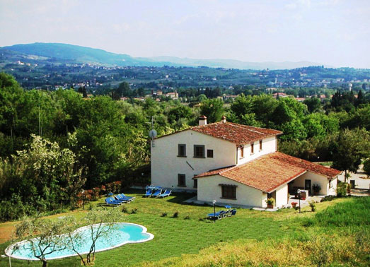 firenze villa mit pool