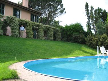 Toskana Palaia  Ferienwohnung mit Garten und Pool,  ideal für die Hochzeitsreise